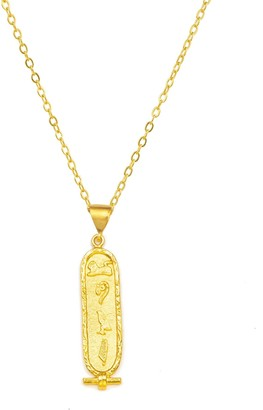 Ottoman Hands Gold 'Love' Cartouche Necklace