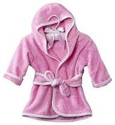 Trend Lab Pink Infant Hooded Robe Wit Paded Hangr - 6-9 months