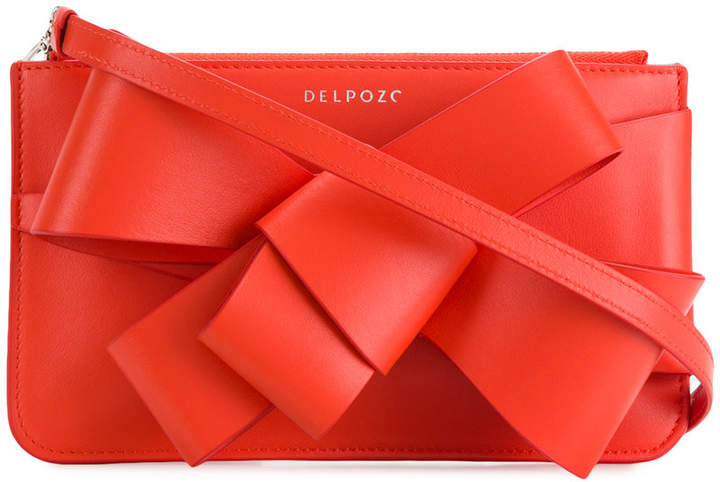DELPOZO bow detail clutch