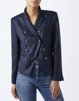 Monsoon Addison Linen Military Jacket