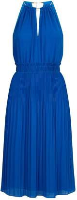 Michael Kors Halterneck Pleated Midi Dress