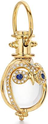 Temple St. Clair Owl Diamond, Sapphire & Rock Crystal Amulet