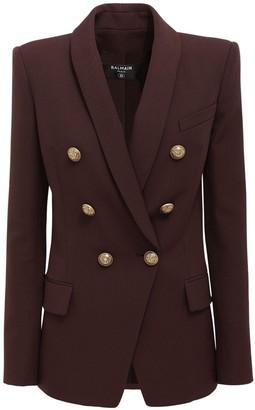Balmain Double Breasted Wool Jacket
