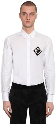Dolce & Gabbana Cotton Shirt W/ Logo Patch On Breast
