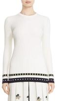 Victoria Beckham Graphic Rib Knit Sweater