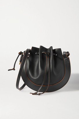Loewe Horseshoe Leather Shoulder Bag - Black