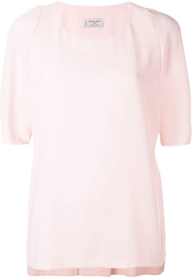 Alberto Biani rear pleat blouse