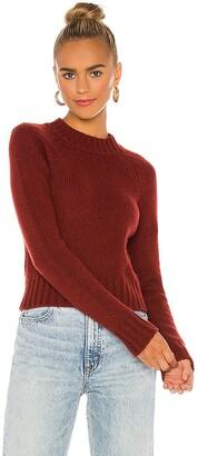 Vince Shrunken Mock Neck Sweater