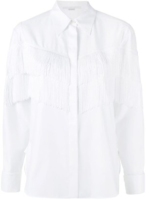 Stella McCartney Alina fringe shirt