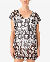 Anne Cole Coming Up Roses Mesh Tunic Cover-Up,A Macy's Exclusive Style