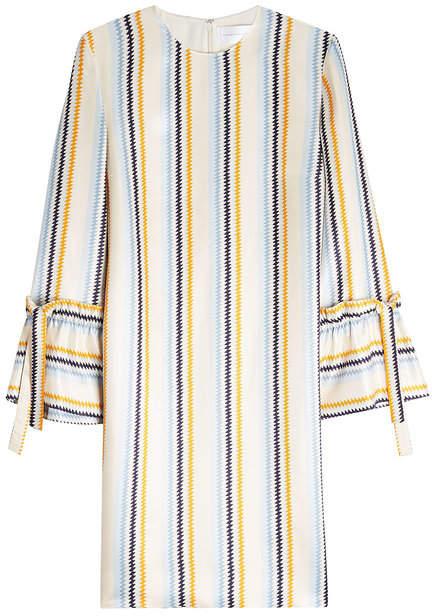 Victoria Beckham Victoria Tie Cuff Shift Dress