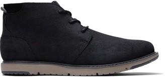 Black Distressed Leather Men's Navi Boots