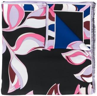 Emilio Pucci Fringed Printed Scarf