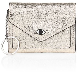 Rebecca Minkoff Leo Metro Glitter Leather Coin Case