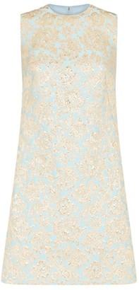 Dolce & Gabbana Floral Jacquard Mini Dress