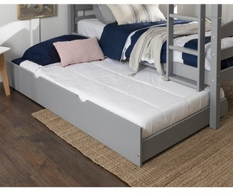 Manor Park Solid Wood Junior Twin Trundle Bed, Grey