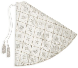 Snowflake Embellished Tree Skirt