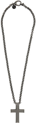 Givenchy Black Thick 2G Cross Necklace