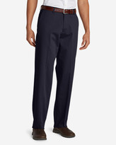 Eddie Bauer Men's Performance Dress Flat-Front Khaki Pants - Relaxed Fit