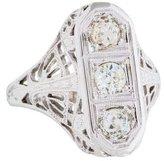 Ring 18K Art Deco Diamond