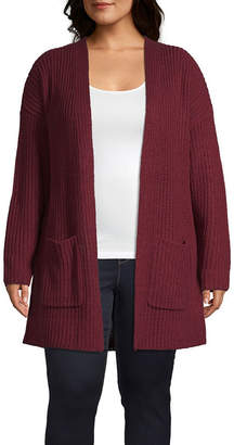 A.N.A Long Sleeve Drop Shoulder Cardigan - Plus