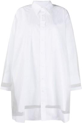 Maison Margiela Sheer Trimmed Shirt Dress