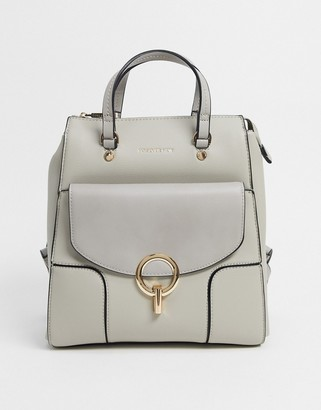 Ever New backpack with ring detail in gray