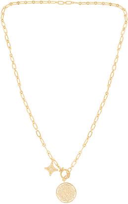 Gorjana Maya Coin Clasp Lariat Necklace
