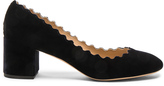 Chloé Velvet Lauren Scallop Pumps