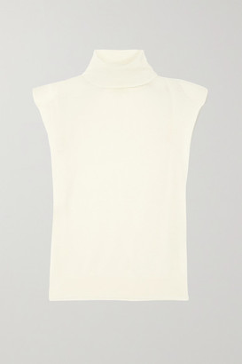 LOULOU STUDIO Wool And Cashmere-blend Turtleneck Tank - Ivory