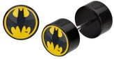Batman DC Comics Logo Acrylic and Stainless Steel Screw Back Earrings - Black