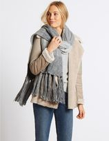 Marks and Spencer Colour Block Cable Knit Scarf