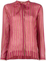 Etro gold-tone stripes shirt - women - Silk/Metallic Fibre - 40
