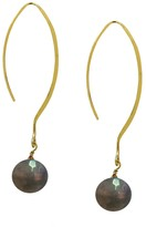 Charlene K 14K Gold Plated Sterling Silver Hook Gemstone Earrings