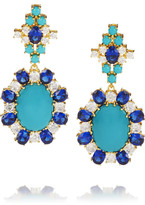 Kenneth Jay Lane Moroccan gold-plated cubic zirconia earrings