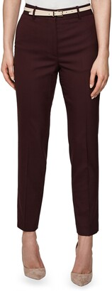 Reiss Lissia Slim Textured Wool Blend Suit Trousers