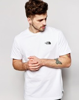 The North Face T-shirt With Red Box Logo - White