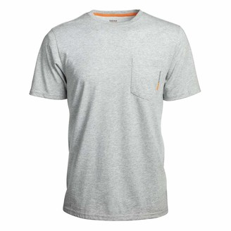 Timberland Men's A1HNS Base Plate Blended Short Sleeve T-Shirt - 3X-Large Tall - Heather Gray