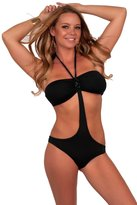 Hot From Hollywood Padded One Piece Swimsuit Bandeau Halter String Monokini monokini Swimwear S M L