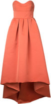 Paule Ka strapless high low woven dress - women - Polyester - 42