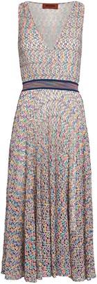 Missoni Rainbow Knit Faux-Wrap Dress