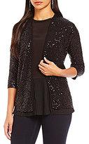 Jones New York Sequined Texture Knit Cardigan