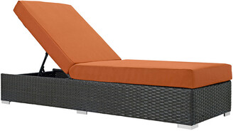 Modway Outdoor Modway Sojourn Outdoor Patio Wicker Rattan Sunbrella Chaise Lounge