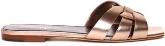Saint Laurent Nu Pieds Metal Blush Leather Sandals
