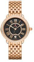 Michele Serein 16 Diamond & Rose Goldtone Stainless Steel Bracelet Watch