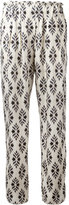 Forte Forte printed slim-fit trousers - women - Silk - I