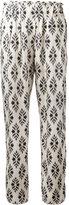 Forte Forte printed slim-fit trousers - women - Silk - II
