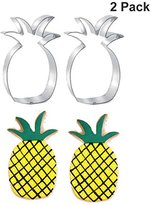 Pineapple Cookie Cutter Stainless Steel Biscuit cake Molds,Size 4.2 Inch (2 Pcs )