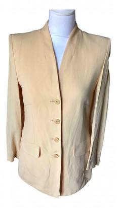 Sonia Rykiel Yellow Silk Jumpsuits