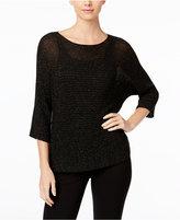 Eileen Fisher Metallic Dolman-Sleeve Sweater